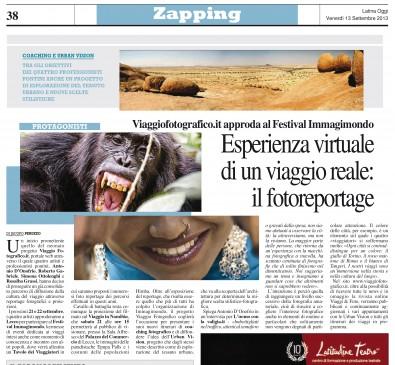 Latina Oggi del 13 settembre 2013