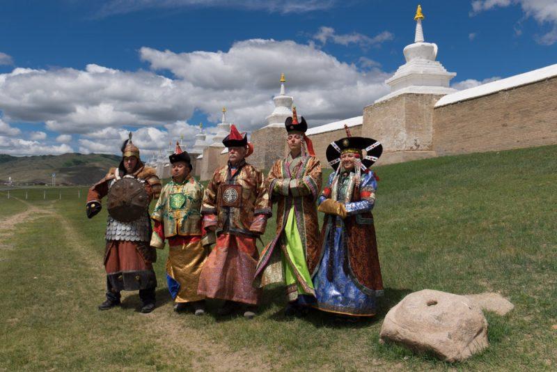 Il Gruppo dell'Edizione 2016 vestiti da Dignitari di Corte capitanati dal Capogruppo che indossa gli abiti di Gengis Khan!