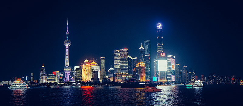 Cina Shanghai by night - Foto: © Janens Glas