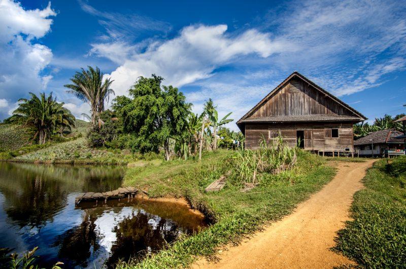 I villaggi nel Borneo, completamente immersi nella natura. Foto: © Roberto Gabriele 2008